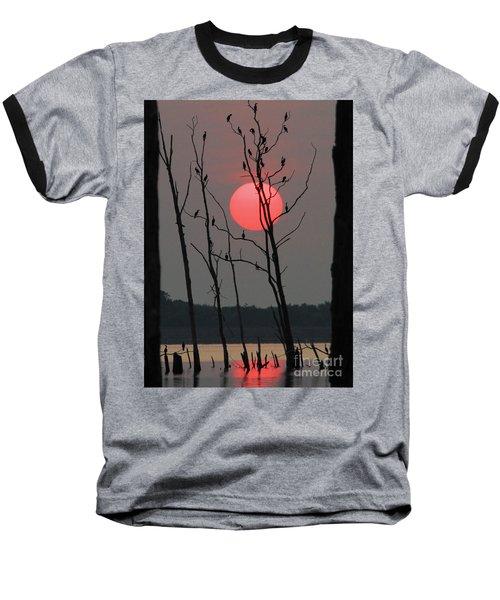 Red Rise Cormorants Baseball T-Shirt