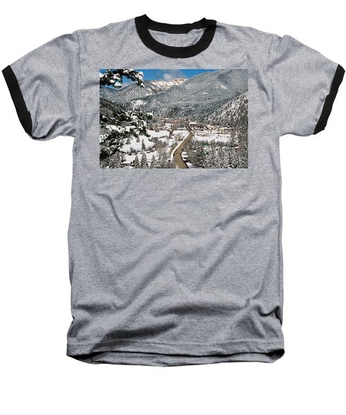 Red River In Winter Baseball T-Shirt