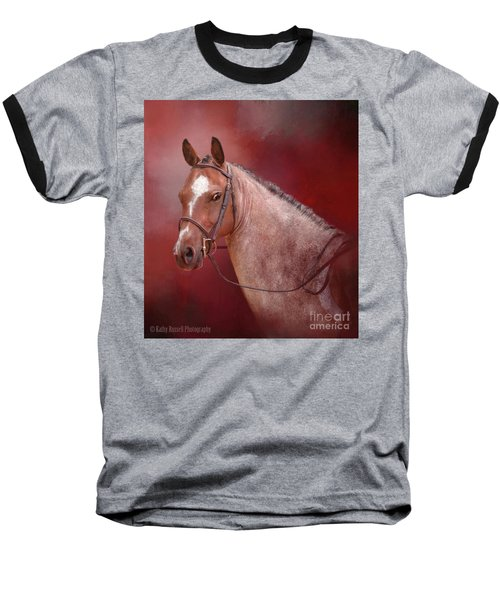Red Roan Baseball T-Shirt by Kathy Russell
