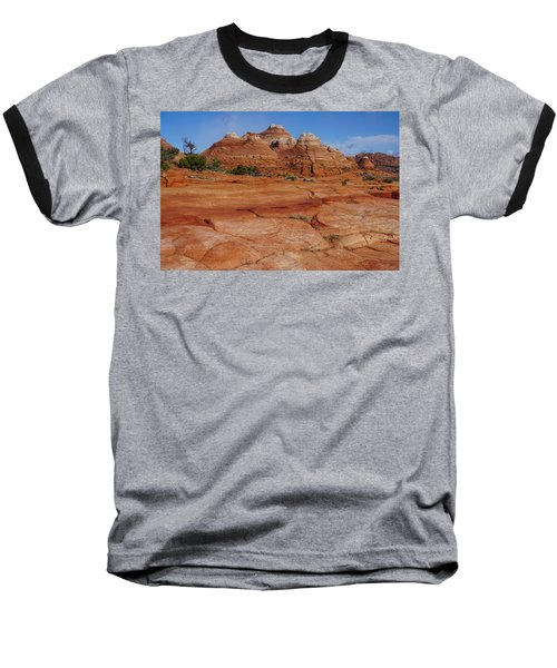 Red Rock Buttes Baseball T-Shirt