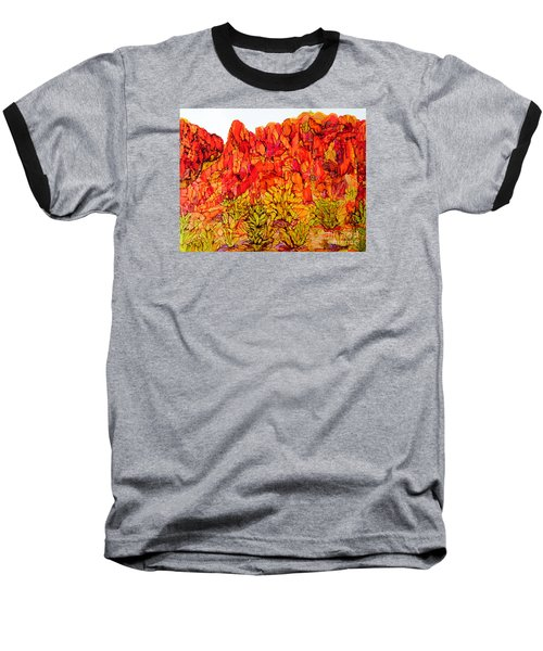 Red Rock Canyon Veiw From The Loop Baseball T-Shirt