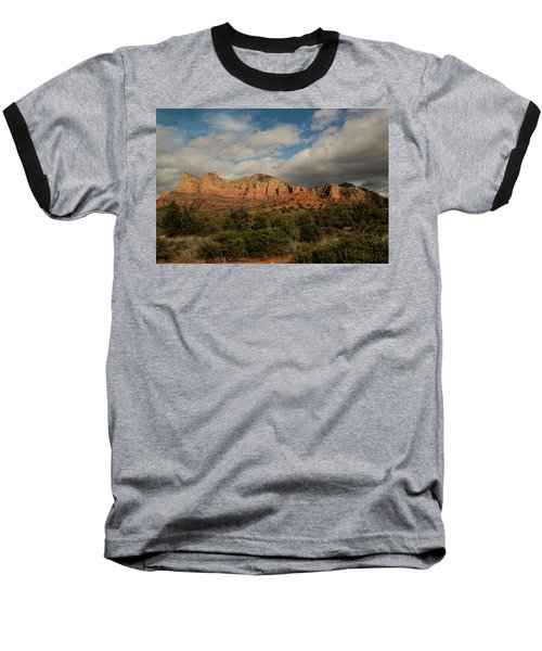 Red Rock Country Sedona Arizona 3 Baseball T-Shirt by David Haskett