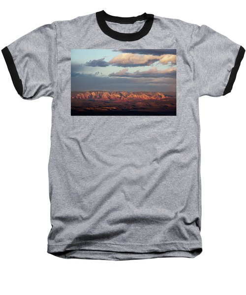 Red Rock Crossing, Sedona Baseball T-Shirt by Ron Chilston