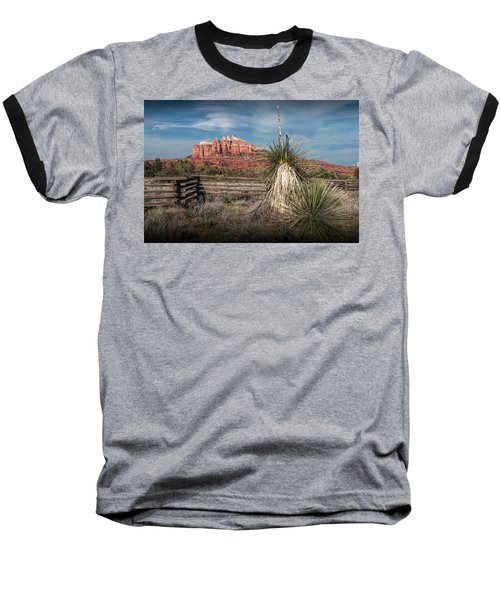 Baseball T-Shirt featuring the photograph Red Rock Formation In Sedona Arizona by Randall Nyhof