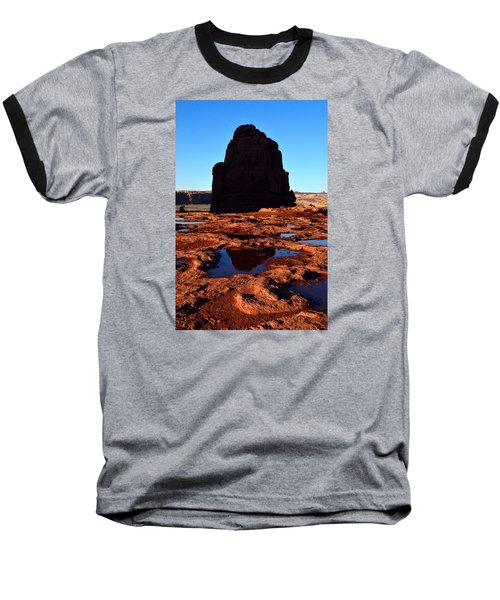 Red Rock Reflection At Sunset Baseball T-Shirt