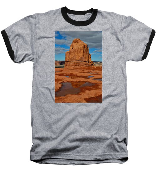 Red Rock Reflection Baseball T-Shirt