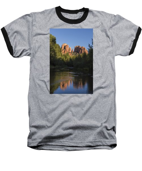 Baseball T-Shirt featuring the photograph Red Rock Reflections by Laura Pratt