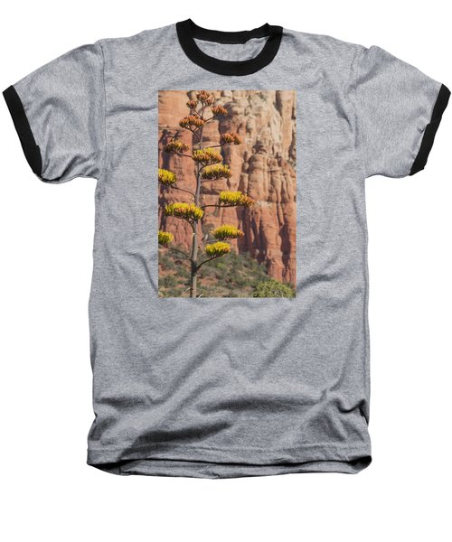 Baseball T-Shirt featuring the photograph Red Rocks And Century Plant by Laura Pratt