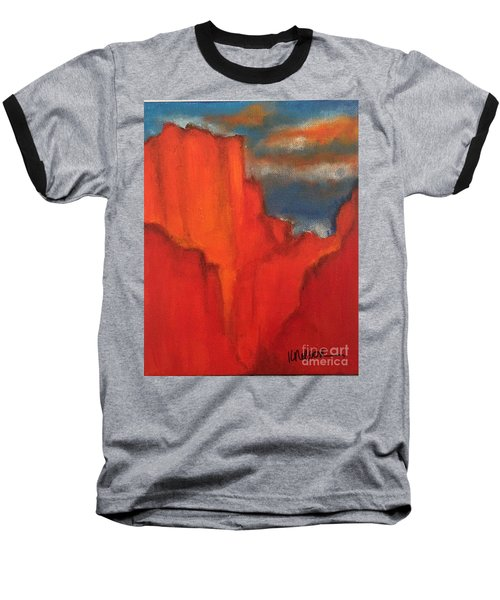 Baseball T-Shirt featuring the painting Red Rocks by Kim Nelson