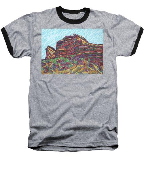Red Rocks Baseball T-Shirt by Robert SORENSEN