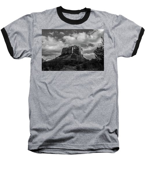 Red Rocks Sedona Bnw 1 Baseball T-Shirt by David Haskett