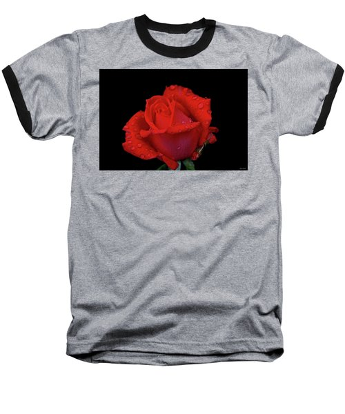 Baseball T-Shirt featuring the photograph Red Rose 013 by George Bostian