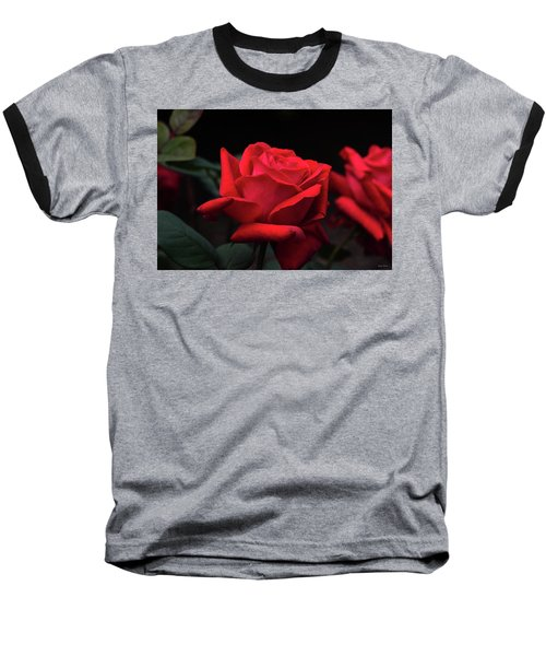 Baseball T-Shirt featuring the photograph Red Rose 014 by George Bostian