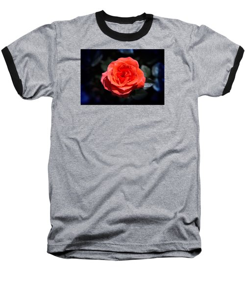 Red Rose Art Baseball T-Shirt by Milena Ilieva