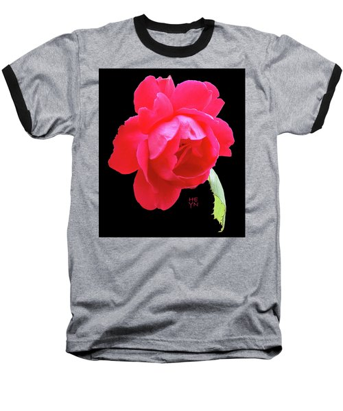 Red Rose Cutout Baseball T-Shirt