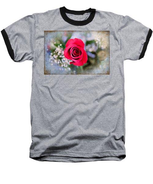 Red Rose Elegance Baseball T-Shirt