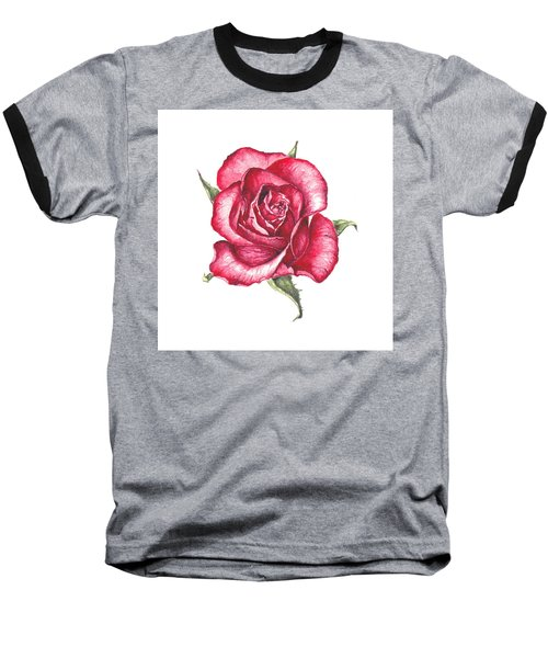 Red Rose Baseball T-Shirt by Heidi Kriel