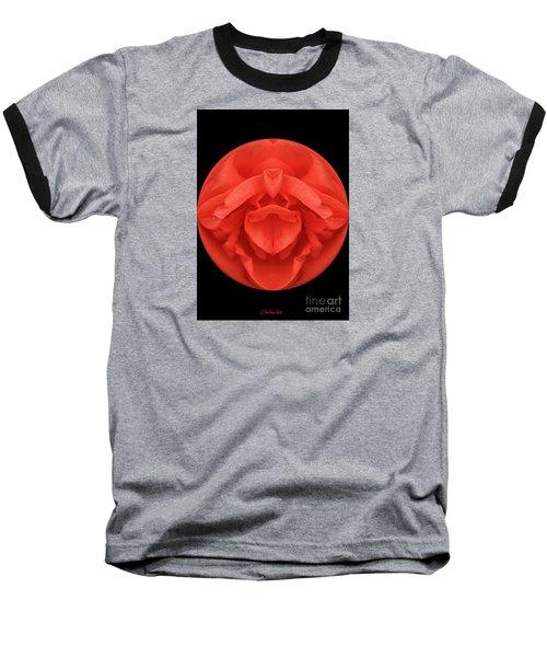 Red Rose Sphere Baseball T-Shirt
