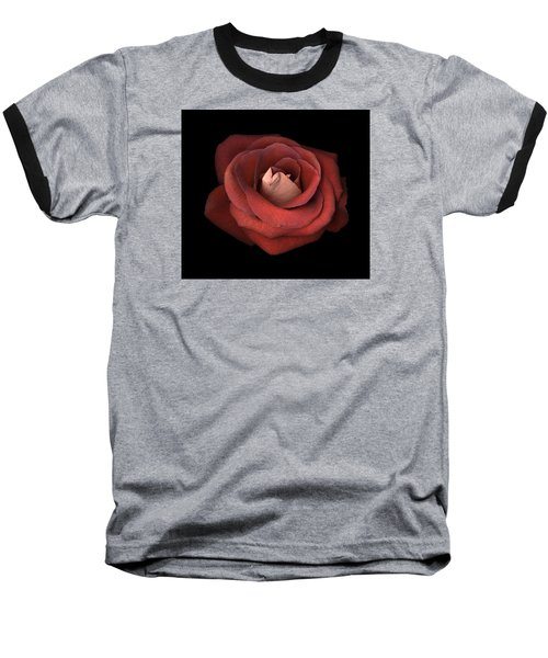 Baseball T-Shirt featuring the photograph Red Rose by Test