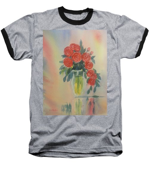 Red Roses For My Valentine Baseball T-Shirt