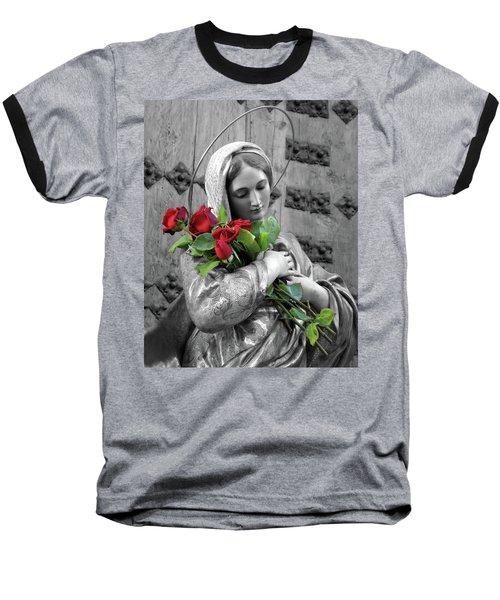 Red Roses Baseball T-Shirt by Munir Alawi