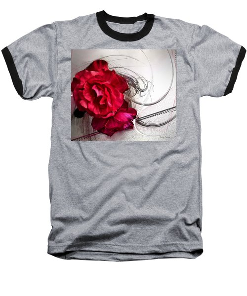 Red Roses Baseball T-Shirt by Susan Kinney