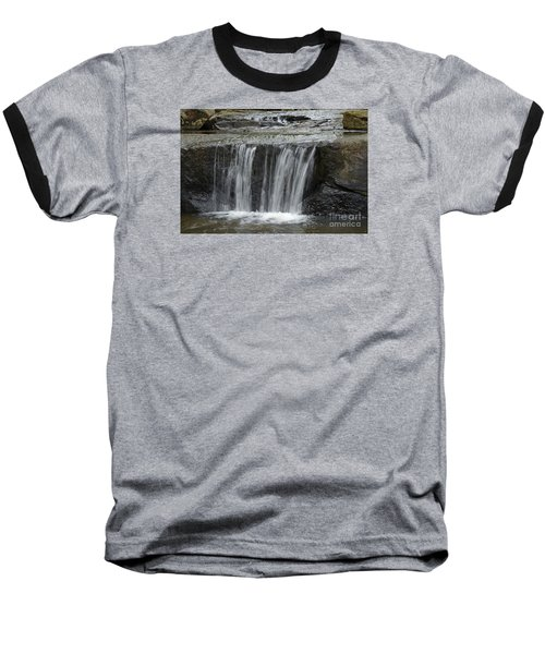 Red Run Waterfall Baseball T-Shirt