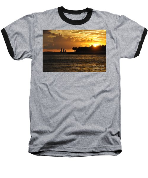 Baseball T-Shirt featuring the photograph Red Sails At Night by John Black