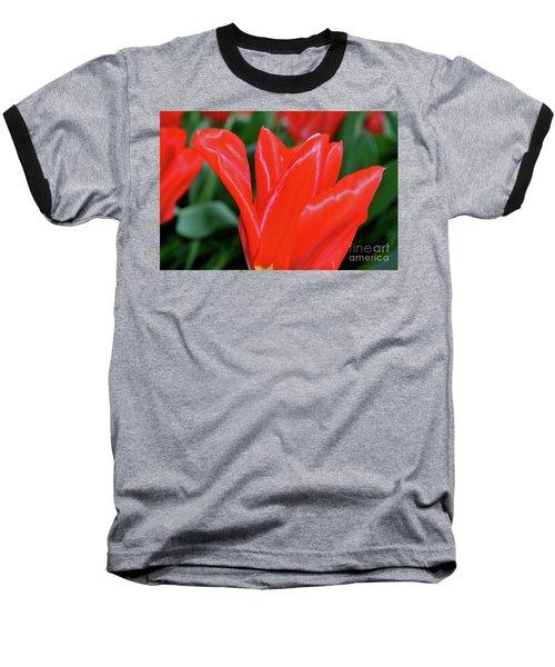 Red Satin Baseball T-Shirt