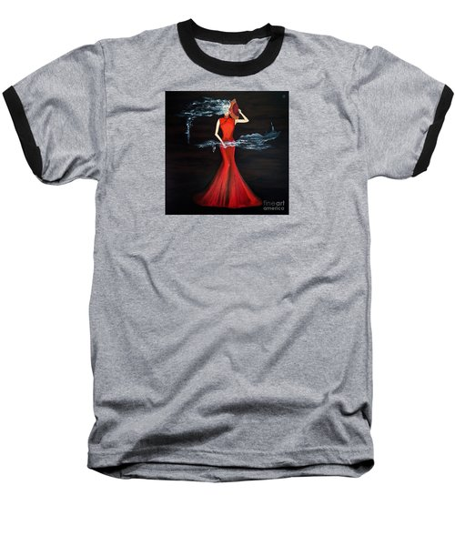 Scented Red Color Baseball T-Shirt by Fei A