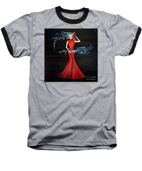 Scented Red Color Baseball T-Shirt