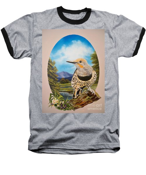 Flying Lamb Productions                       Red Shafted Flicker Baseball T-Shirt