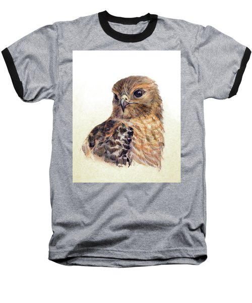 Red-shouldered Hawk Baseball T-Shirt