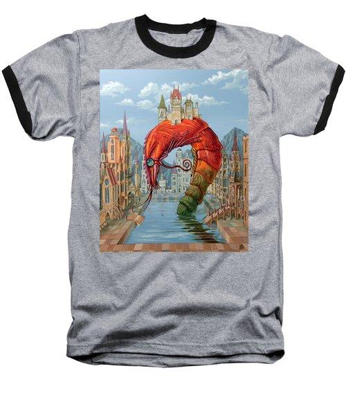 Red Shrimp Baseball T-Shirt
