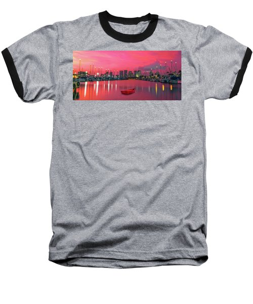 Red Skies At Night Baseball T-Shirt