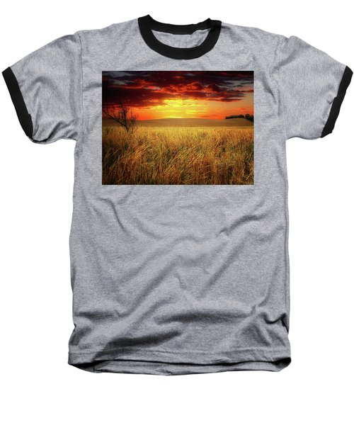 Red Skies Baseball T-Shirt