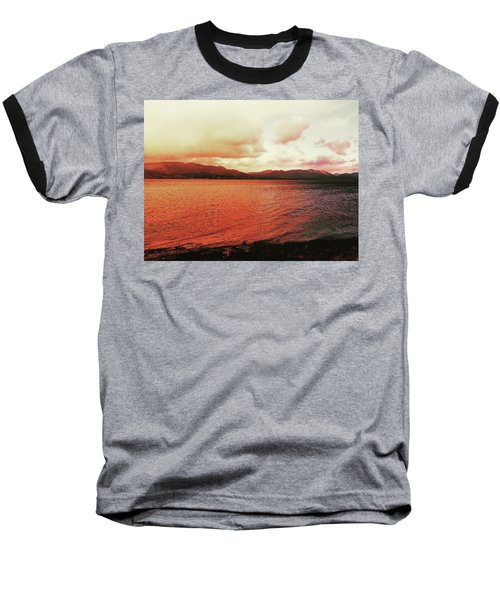 Red Sky After Storms  Baseball T-Shirt