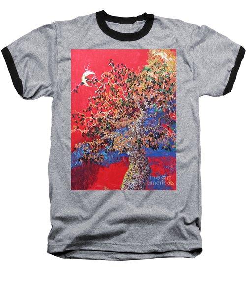 Red Sky And Tree Baseball T-Shirt