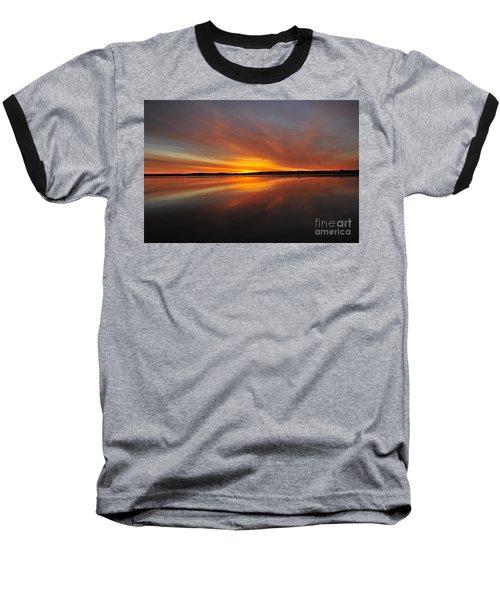 Red Sky At Morning Baseball T-Shirt