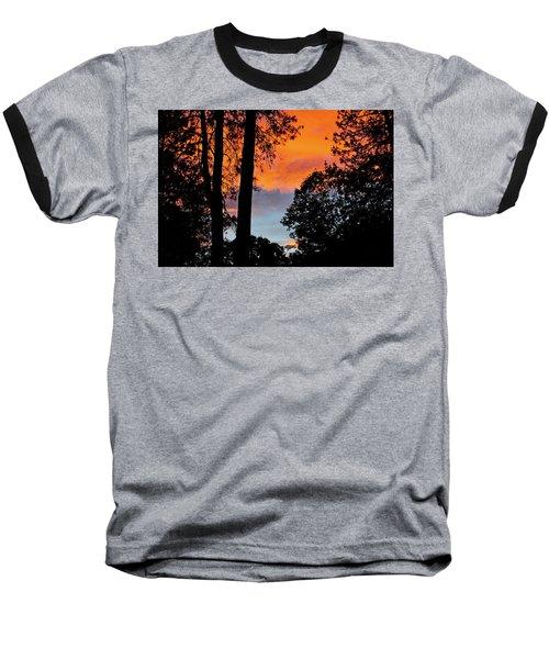 Red Sky At Night Baseball T-Shirt