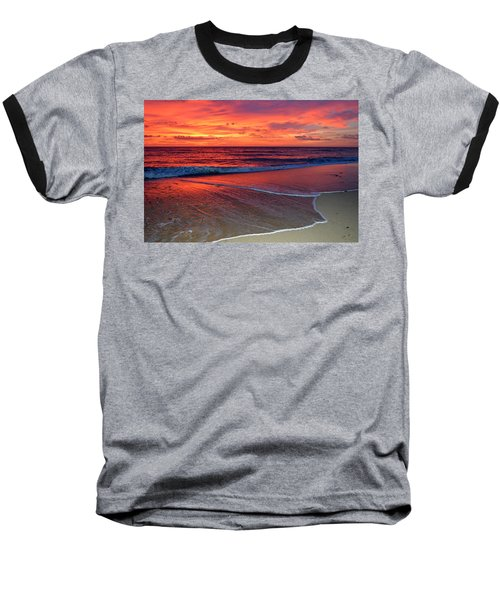 Red Sky In Morning Baseball T-Shirt