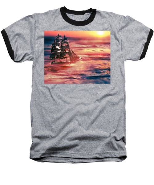 Red Sky In The Morning.... Sailors Take Warning Baseball T-Shirt