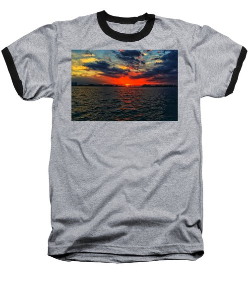 Red Sky  Baseball T-Shirt