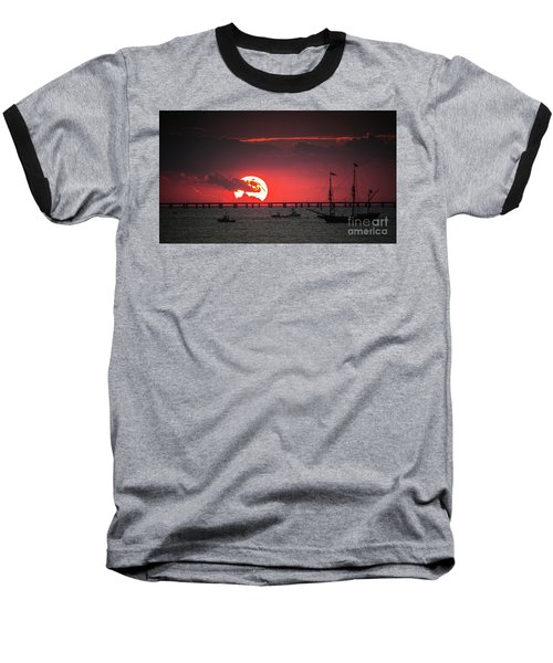 Red Sky Baseball T-Shirt by Scott and Dixie Wiley