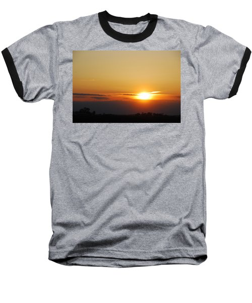 Red Sky Sunset Baseball T-Shirt