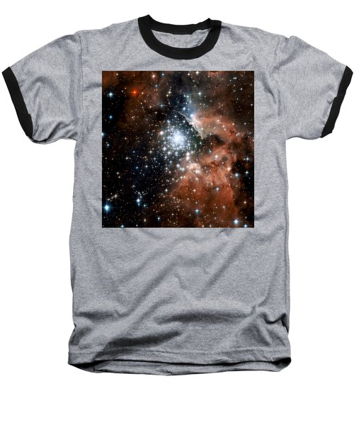 Red Smoke Star Cluster Baseball T-Shirt