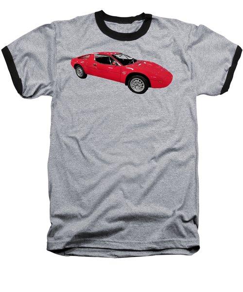 Red Sport Car Art Baseball T-Shirt