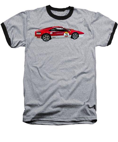 Red Sports Racer Art Baseball T-Shirt
