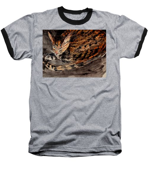 Red Spot Tabby Baseball T-Shirt