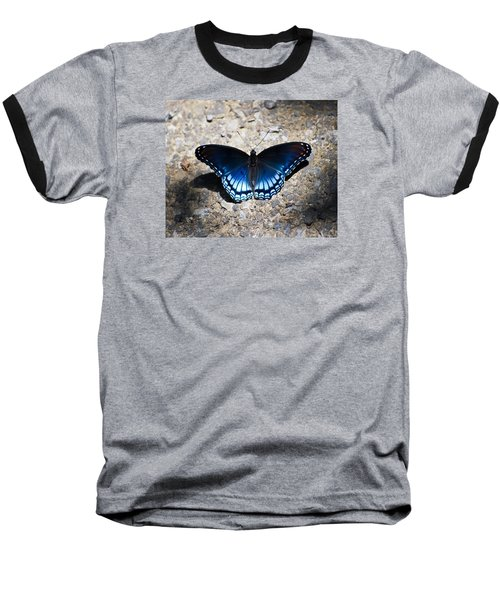 Red-spotted Purple Butterfly Baseball T-Shirt by Kerri Farley